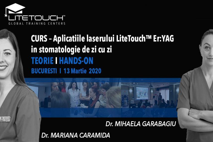 Curs – aplicațiile laserului LiteTouch™ ER:YAG în stomatologia de zi cu zi. Teorie și hands-on 13 martie 2020 București